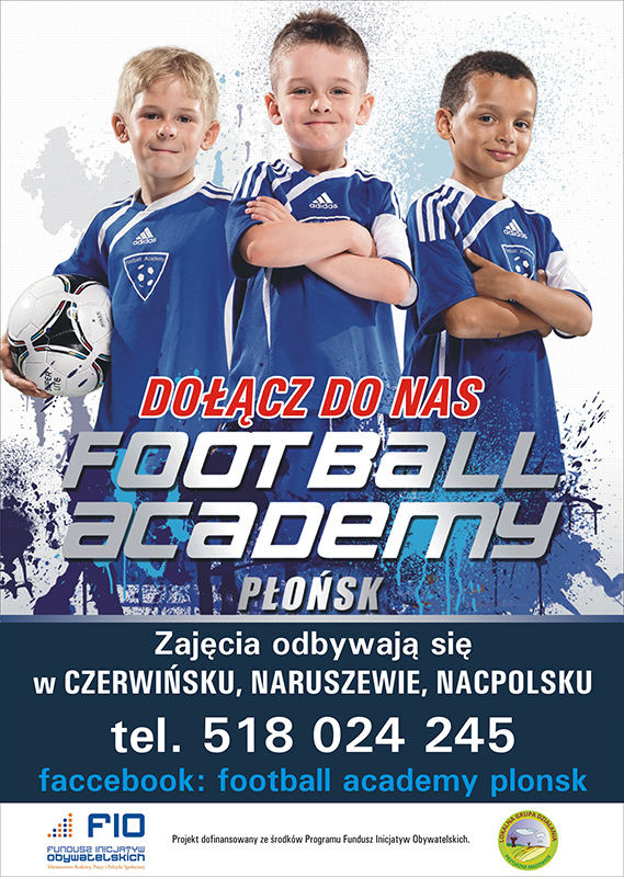 plakat football academy 2017